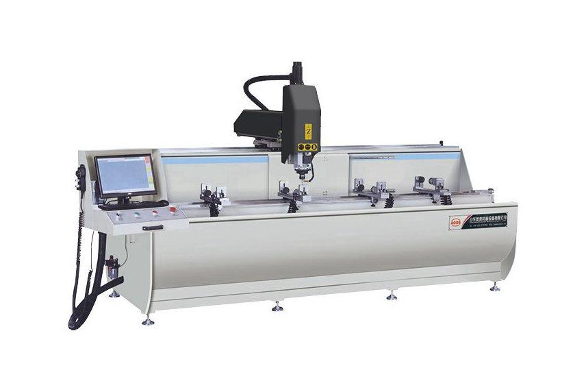 Aluminum Profile 3+1 Axis CNC Drilling Milling Machine