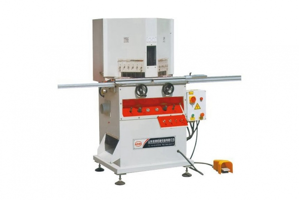 Vertical double saw 45 degrees