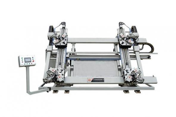 Four-head corner combining machine CNC for aluminum win-door